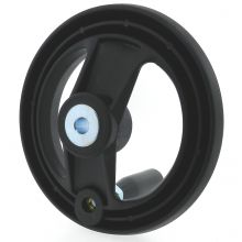 Nylon 2 Spoke Handwheel with Revolving Handle