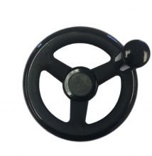 Plastic Three Spoke Offset Handwheel with Revolving Handle