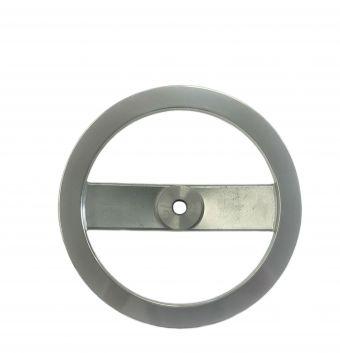 Polished Aluminum 2 Spoke Handwheel without Handle