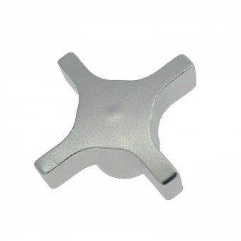 Aluminum Hand Knob - Tapped 4 Lobe