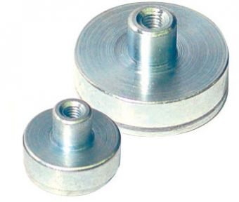 Steel Cup Magnet with Female Stud