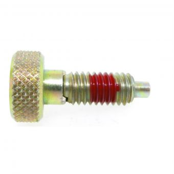 Knurled Knob Indexing Plunger - Non Locking Nose with Nylon Patch