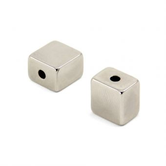Neodymium Cube Magnets with Mounting Hole