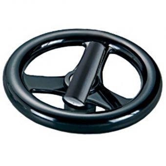 Phenolic 3 Spoke Handwheel with Folding Handle
