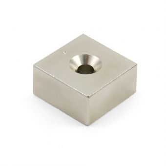 Neodymium Block Cube Magnet with Countersunk Hole
