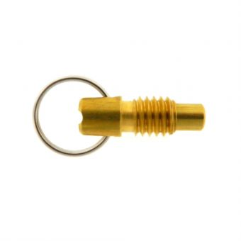 Stubby Pull Ring Indexing Plunger - Locking Nose without Nylon Patch